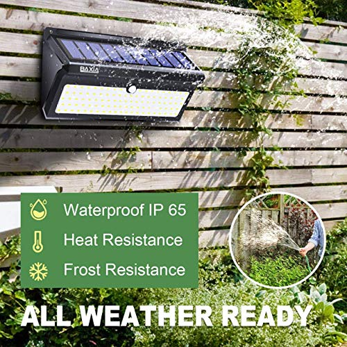 BAXIA TECHNOLOGY Outdoor Wireless 100 LED Solar Motion Sensor Waterproof Security Wall Lighting Outside for Front Door, Backyard, Steps, Garage, Garden (2000LM, 4PACK) by BAXIA TECHNOLOGY (Image #3)