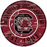 Fan Creations University of South Carolina Distressed Round Sign, Multi