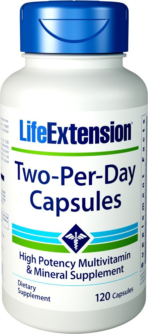 Life Extension Two Per Day High Potency Multivitamin & Mineral Supplement, 120 Capsules