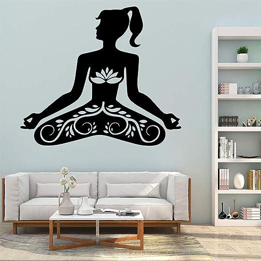 Adhesivos De Pared Arte De Pared Zm Yoga Decoración Del ...
