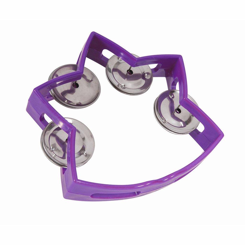 Small Star Tambourine with 4 Jingles Purple Westco TA7002-PR