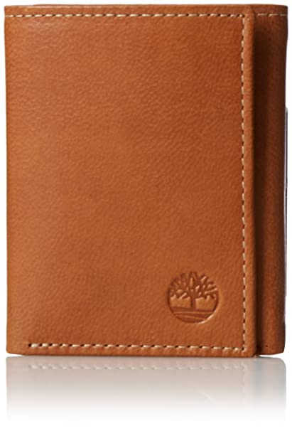 Timberland Mens Leather Trifold Wallet With ID Window ...