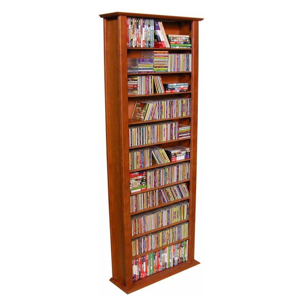 Spartak Bookcase Media Tower - Tall Single 2411CHERRY (Cherry) (76''H x 28''W x 9.5''D)