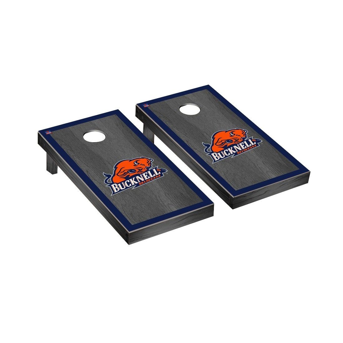 Victory Tailgate Bucknell Bison Regulation Cornhole Game Set Onyx Stained Border Version