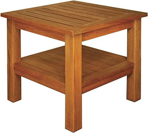 Blue Star Group Terrace Mates 2 Shelf High Square End Table Review