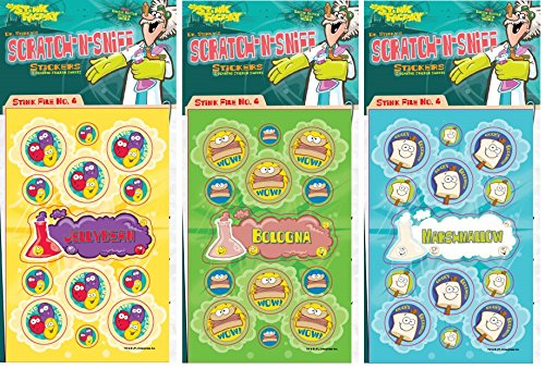 Series4 Jelly Beans Marshmallow 81 Stickers Just For Laughs Dr Stinkys Scratch N Sniff Stickers 3-Pack- Bologna