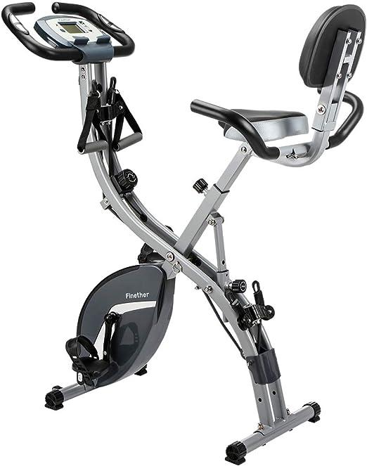 Finether Bicicleta Estática Plegable Magnética, Bicicleta de ...