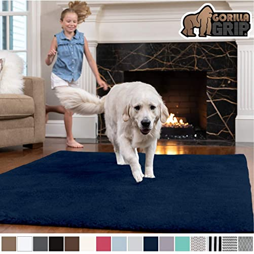 Gorilla-Grip-Original-Faux-Chinchilla-Area-Rug,-7.5x10-Feet
