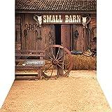 KonPon 5x10ft Silk Cloth Farm Barn Backdrop Photography Studio Props Drops Background KP-016