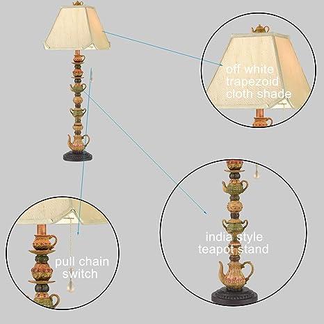 Amazon.com: CLAXY Ecopower - Lámpara de mesa antigua de ...