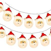 KOTONAMI Luces de Papá Noel, 9.8ft 20 LED Plástico Cadena de Luces para Ddecoración Navidad, Fiestas, Celebraciones…