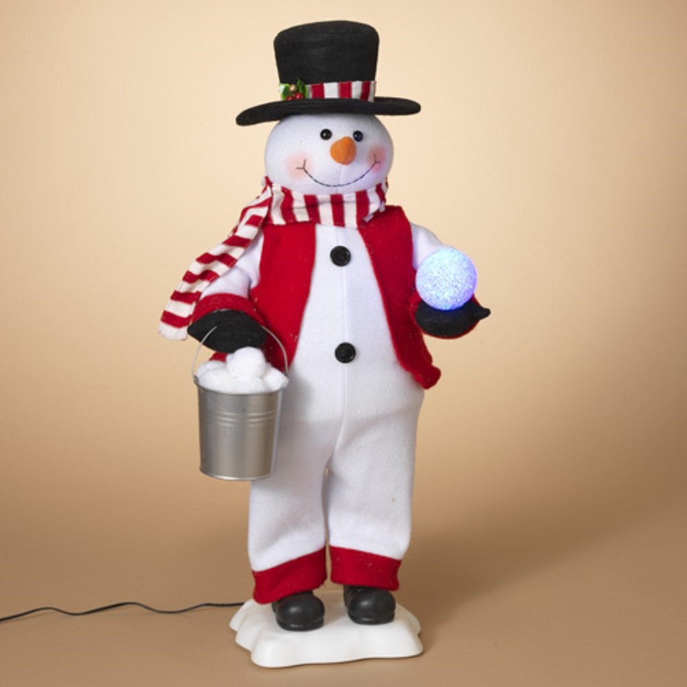Gerson 25 Inches Electric Snowman and Snowballs Seasonal Decor 2305480