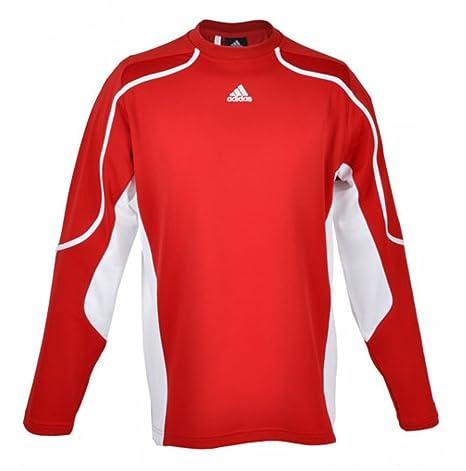 Adidas Pro Team Training Manga Corta Camiseta JSY Manga Larga Climalite, Hombre Mujer, Rojo