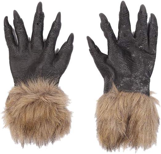 Amosfun lobo guantes lobo disfraz manopla terror diablo accesorio ...