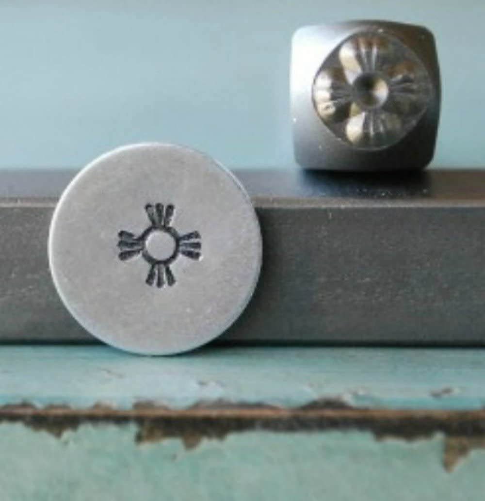 Brand New Supply Guy 5mm Indian Sun Metal Punch Design Stamp CH-66
