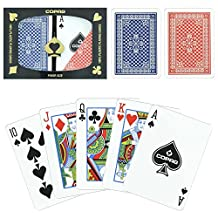 Copag 100% Plastic Playing Cards - Red/Blue Wide Pinochle Deck