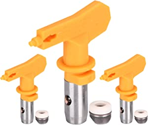 Reversible Airless Paint Spray Tips 3 Pieces Airless Spray Guns and Airless Sprayer Spraying Machine Parts for Homes Buildings Decks or Fences (517)