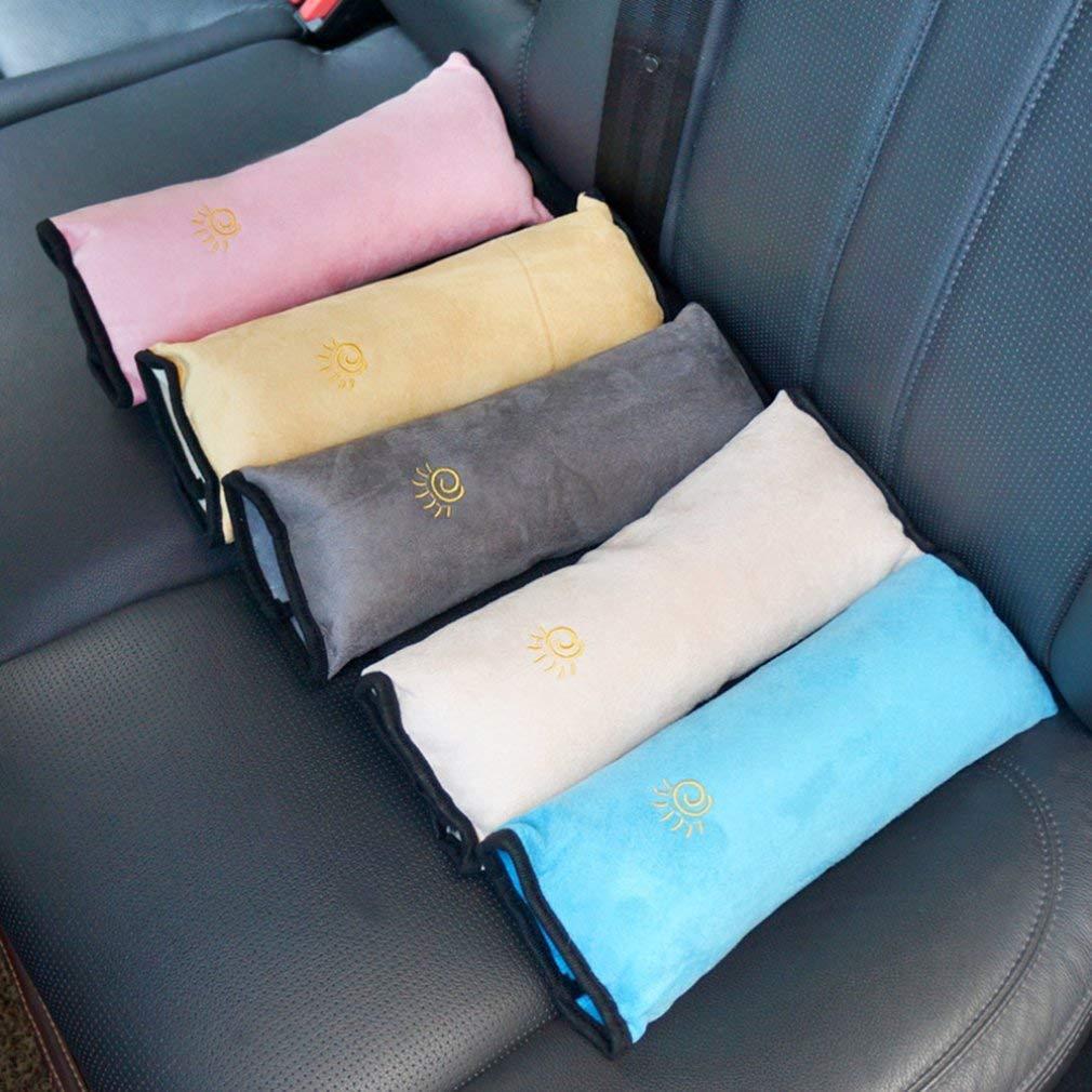 Blau Feketden Gurtpolster f/ür Kinder Schlafkissen Nackenst/ütze f/ür Kinder Auto Baby Kind Sicherheitsgurt Autositz Kopfkissen G/ürtel Pillow Schulterschutz