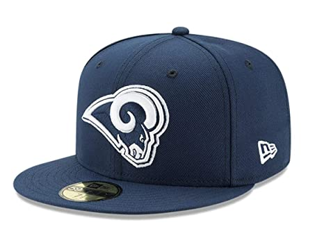 65c8d66bf0e New Era 59Fifty Hat Los Angeles Rams 2Tone Navy Blue Fitted Cap 11803419 (6  7