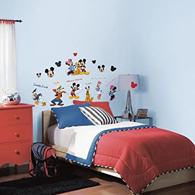 RoomMates Mickey & Friends Peel and Stick Wall Decal - RMK1507SCS, Mickey&Friends: Home Improvement