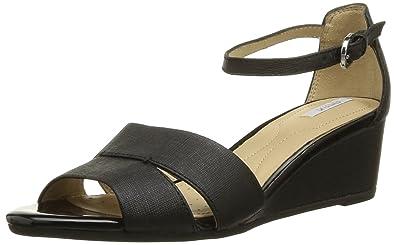 Geox D Lupe D, Sandales compensées femme - Noir (Black), 37 EU ... d3e0ab5df295