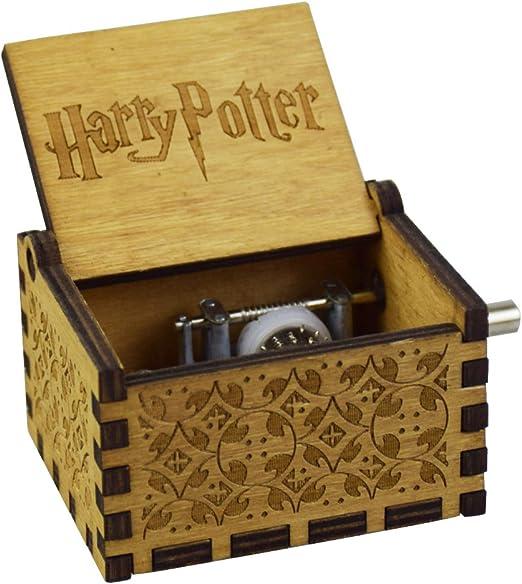 GuangTouL Hedwigs temática Harry Potter caja de música de madera ...