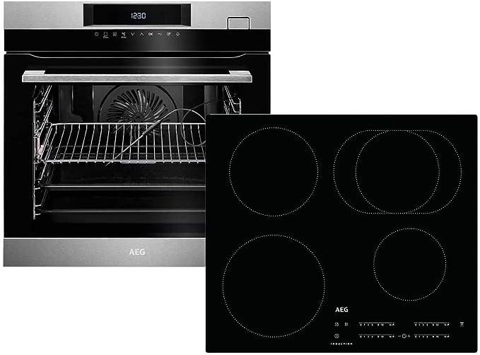 AEG BSK784i-1 - Horno de cocina al vapor BSK782220M + placa de inducción IKB64411IB con extensión telescópica TR1LFSTV Hob2Hood-Funktion: Amazon.es: Grandes ...