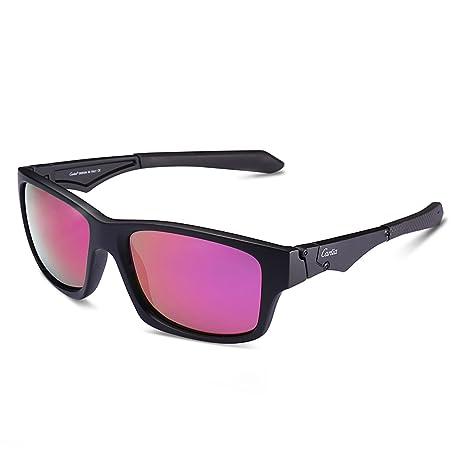 Carfia Unisex Lunettes de soleil polarisées, 100% UV Protection Sports lunettes  de soleil Lunettes b672f9bba901