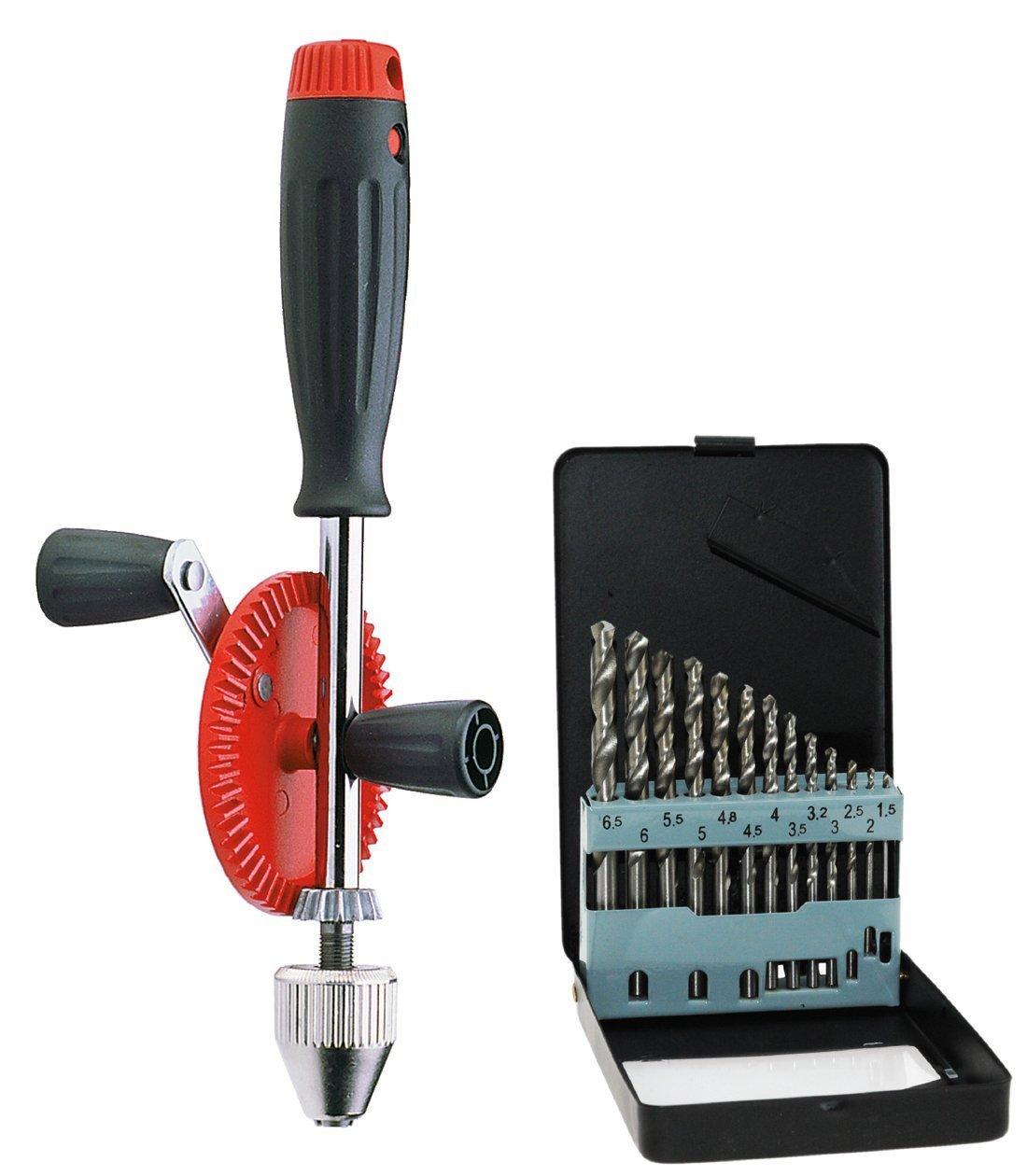 Echtes Werkzeug für Kinder - Echtes Kinderwerkzeug - Corvus Hand-Bohrmaschine Kinder