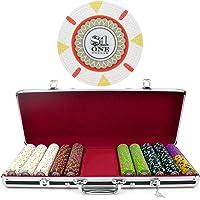 Claysmith Gaming Juego de fichas de póquer 500 Unidades 'The Mint' en Estuche de Aluminio, 13,5 g, Color Negro