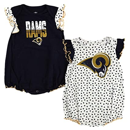 Outerstuff Nfl Infant Girls Los Angeles Rams Assorted 3 Pack Creeper Set Girls' Clothing (newborn-5t)
