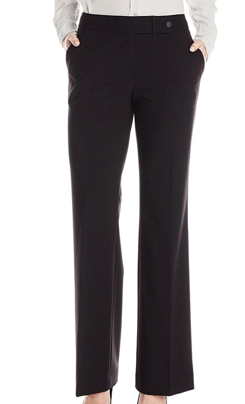 Calvin Klein Women's Classic-Fit Suit Pant, Black, 10