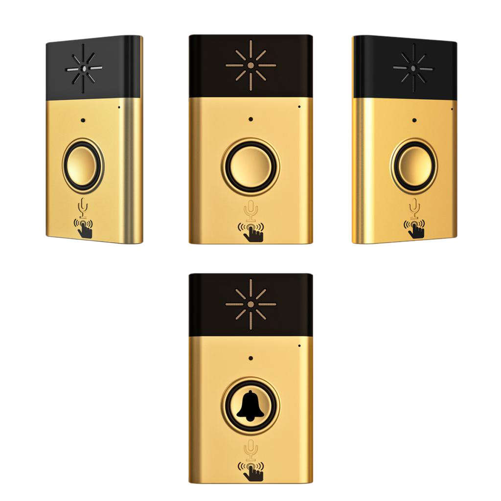 Dovewill Wireless Cordless Digital 200M Range Doorbell Door Chime with Sound Voice Intercom for Household Industrial Use 1 Transmitter with 3 Receiver