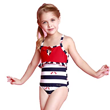 54f3e503c58 Children kids swimwear baby girls one piece swimsuits cute bathing suits  (98(≤2