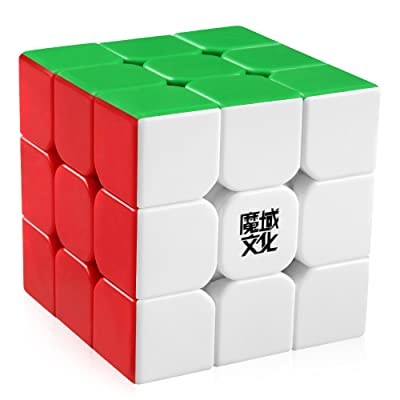 D-FantiX Moyu Aolong V2 Stickerless 3x3 Speed Cube Magic Cube Puzzles Enhanced Version: Toys & Games