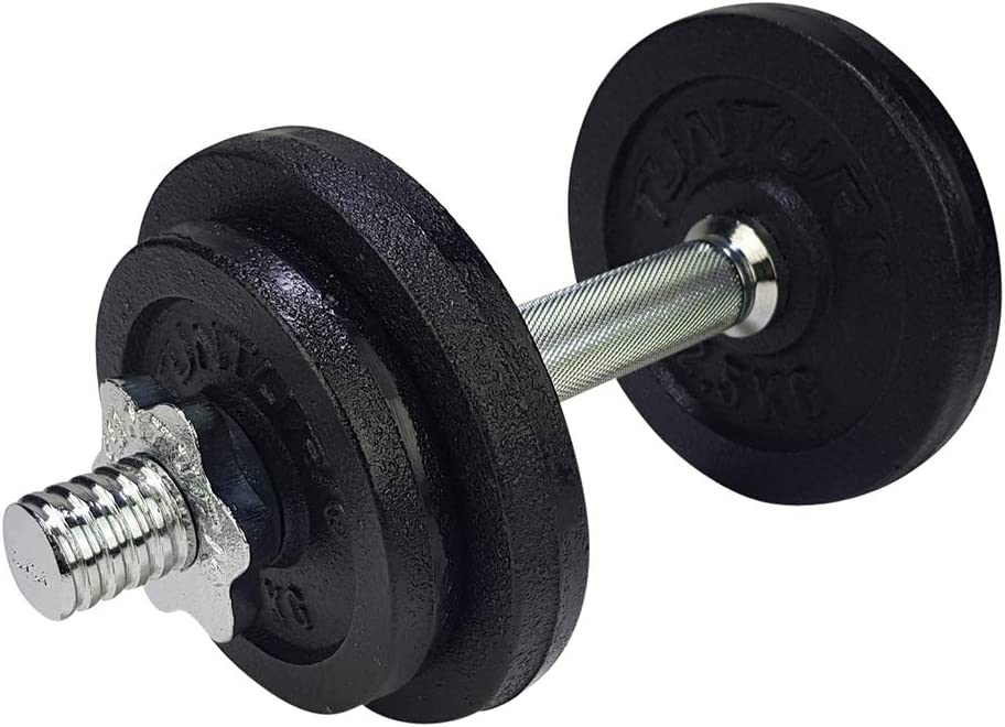 Tunturi Weight Set Mancuernas con 1 Barra Ajustable, Unisex Adulto