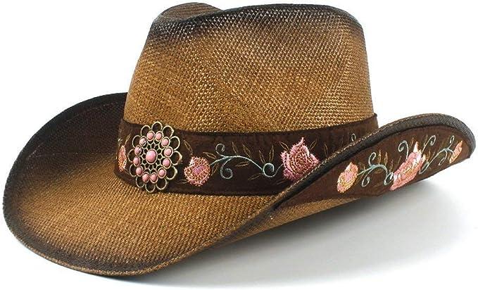 Gorros Sombrero De Panamá Moda para Mujer Hat Cowboy Paja Western ...