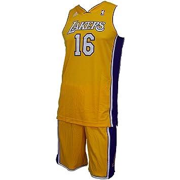 adidas Los Angeles Lakers NBA Camiseta para niños Juego de PAU Gasol nbapga/golsld Talla:152: Amazon.es: Deportes y aire libre