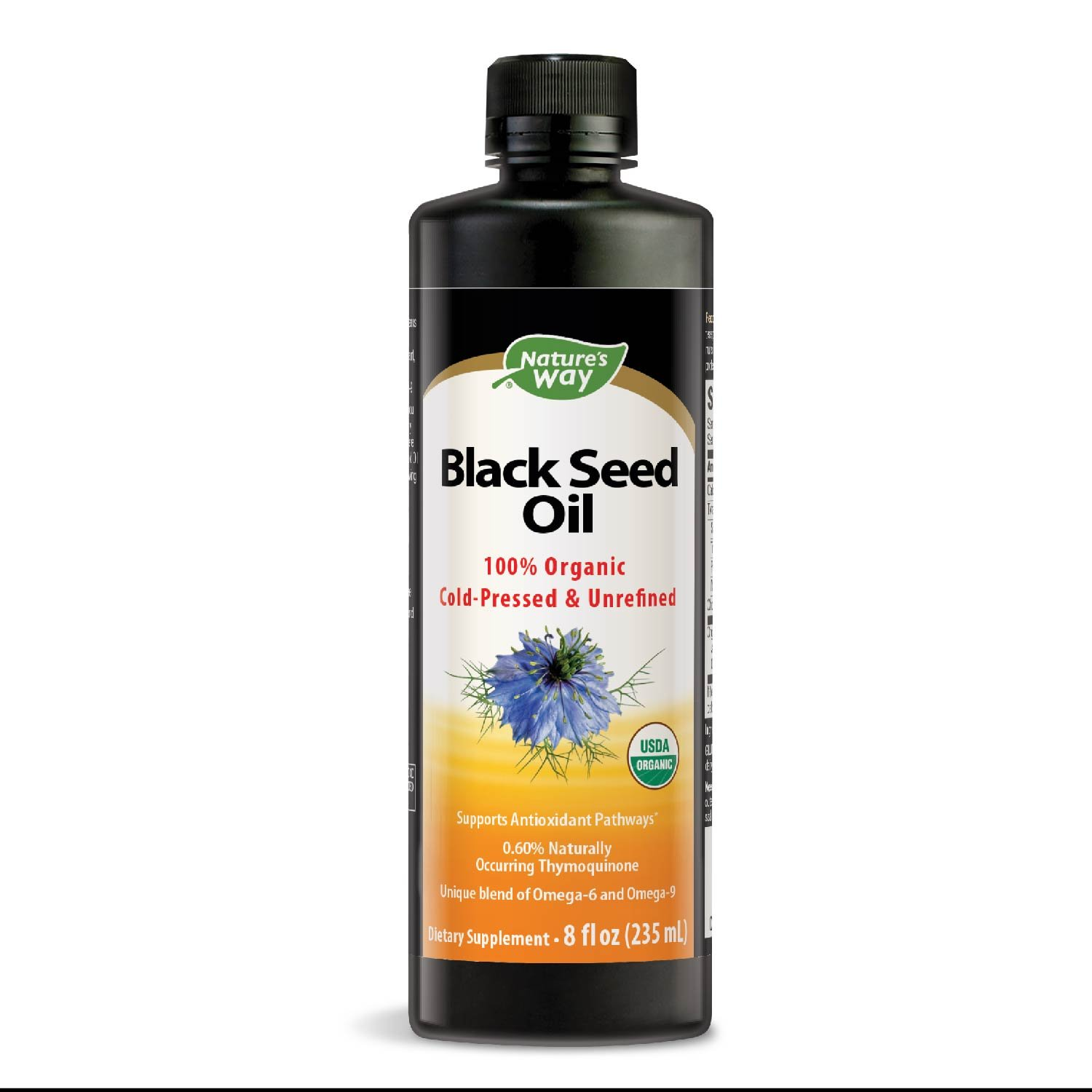 Nature's Way Organic Black Seed Oil, 8 Ounce