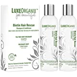 Biotin Shampoo and Conditioner for Hair Growth: Tea Tree Mint Rosemary Oils Soothe Dry Itchy Scalp. Natural Daily Hair Treatment. Anti Dandruff Sulfate and Paraben-Free, Keratin and Color Safe (USA)