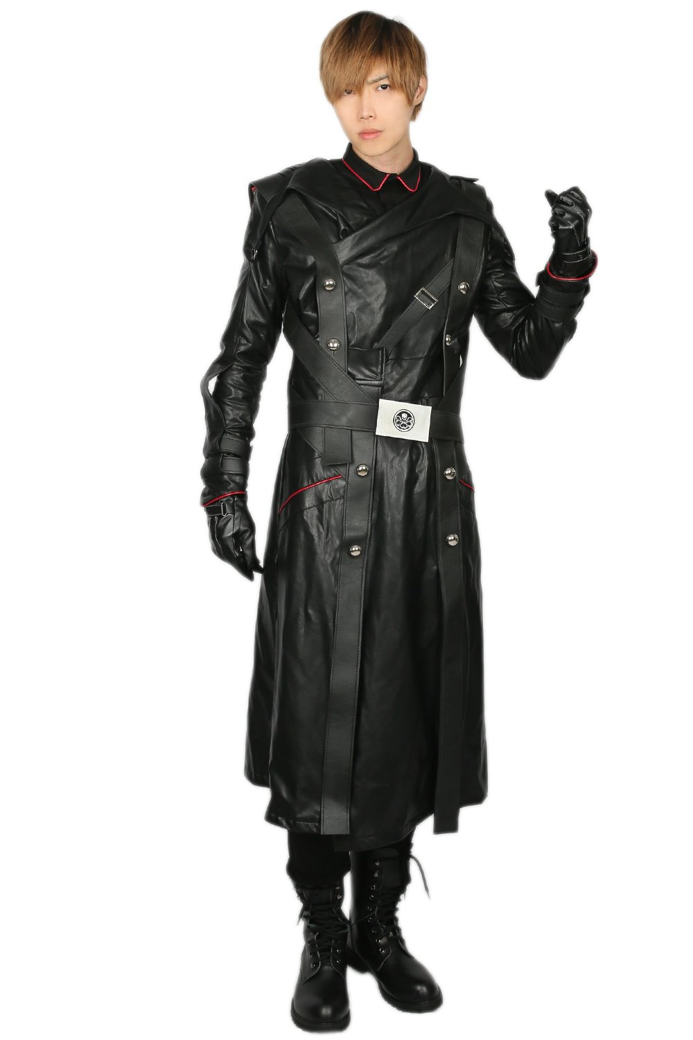 Adult Red Skull Cosplay Costume Outfit Suit for Halloween XL