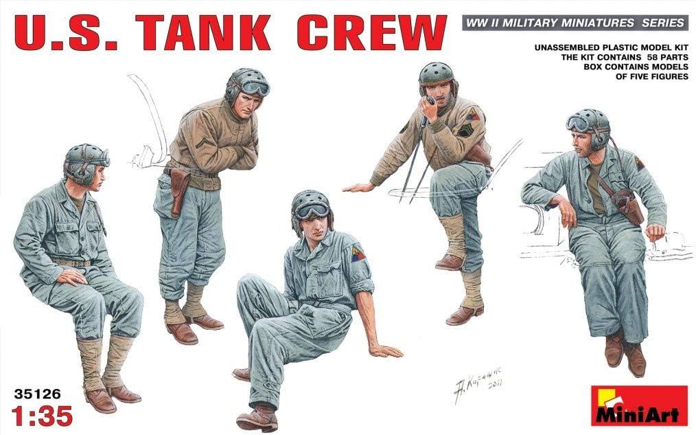 MiniArt 35278 German Tank Crew Afrika Korps Special Edition WWII Military Miniatures 1//35 Scale Model Kit