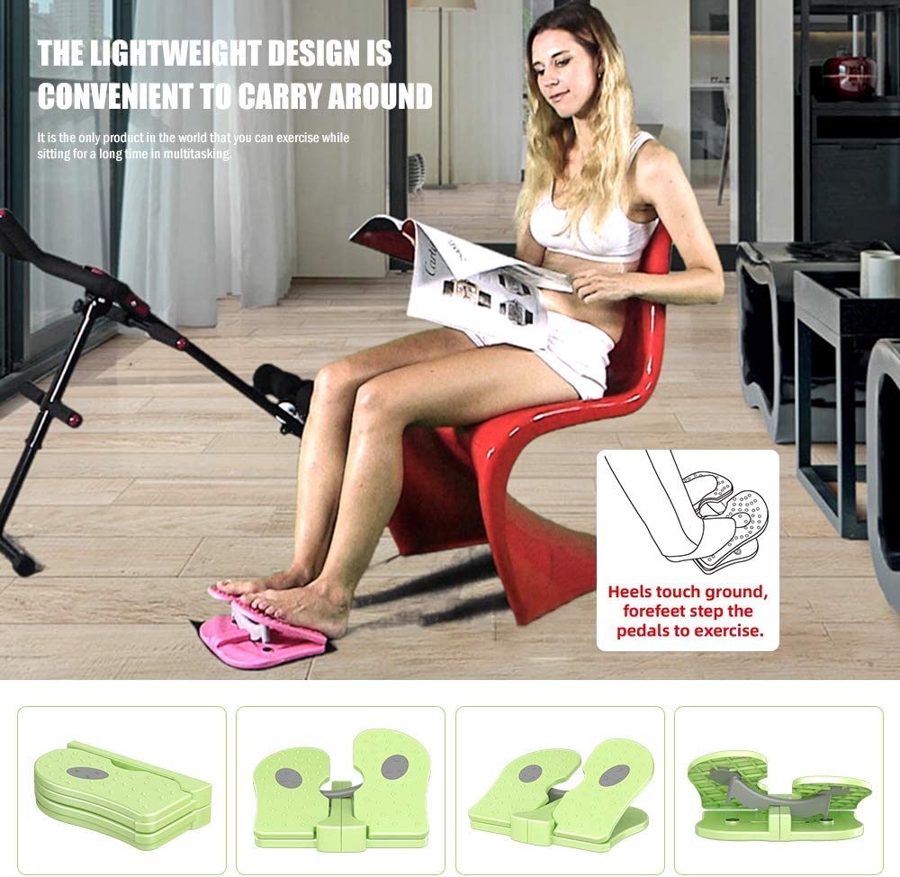 MBB Mini Stepper,Under Desk Pedal Exerciser,Folding Colorful Foot Peddle,Physical Therapy Leg Exercisers Peddle,Relieves Varicose Veins Green Color: Health & Personal Care