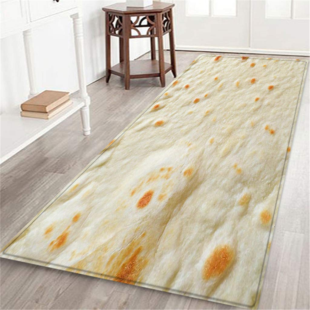BCDshop Unique Burrito Area Rug Long Floor Mat Rectangle Doormat Indoor Child Play Carpet for Living Bedroom Sofa (B, 2ft X 5.9ft) by BCDshop_Rug Clearance (Image #2)
