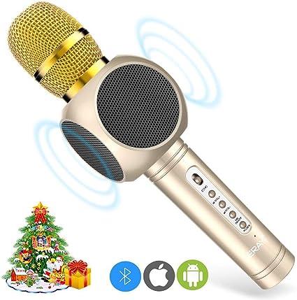 ERAY Micrófono Inalámbrico Karaoke, Micrófono karaoke Bluetooth 4 ...