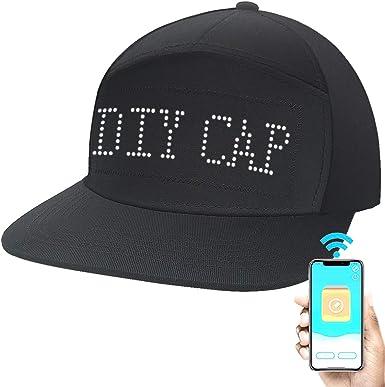 MEN HIP HOP SOUND MUSIC ACTIVATED LED LIGHT UP FLASHING EQUALIZER DJ PARTY HAT