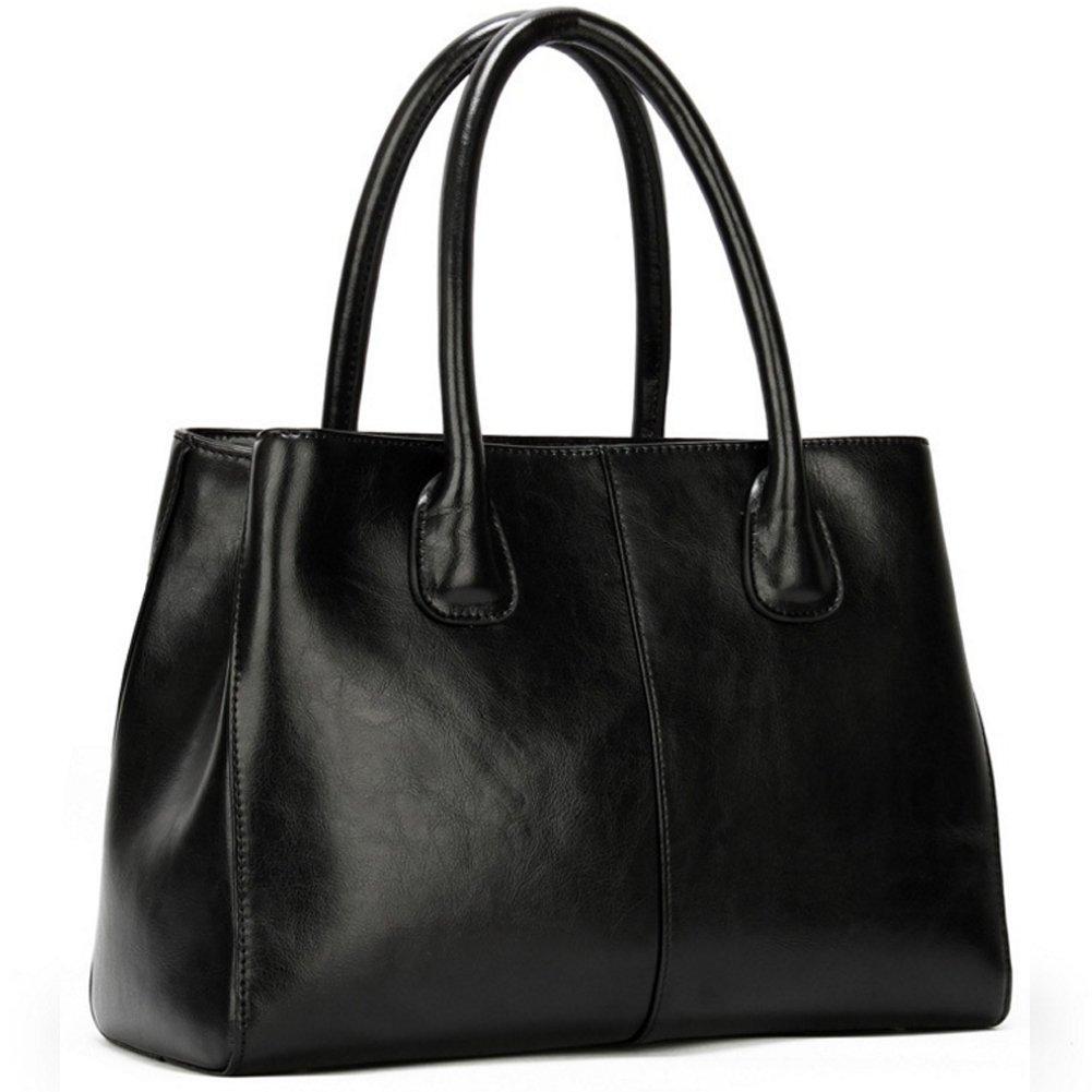 G-AVERIL Damen Handtasche Umhänge-Tasche Business-Tasche groß aus edlem Leder in handgefertigt in Leder Japan mit toller Innenaufteilung elegant und funktional SShwarz Sshwarz c8be59