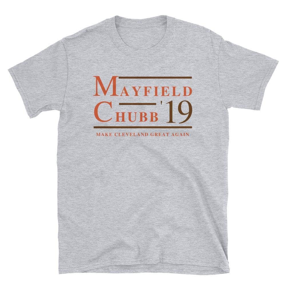 Liber Mayfield And Chubb Cleveland Football Make Cleveland Great Again S Shirts