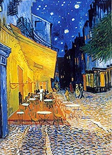 Postcard Cafe (Van Gogh - 3D Lenticular Postcard Greeting Card - Cafe Terrace at Night (1888))