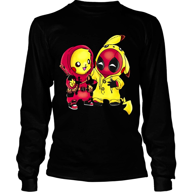 789881c9 Amazon.com: WICHSTORE Pikachu Deadpool T Shirt, Pikachu Cosplay Deadpool T  Shirt - Long Sleeve Tees: Clothing